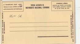 "Portugal / Luftpostfaltbrief ""MOVIMIENTO NACIONAL FEMININO"" ** (BA66) - Postal Stationery"