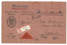 """MÜNCHEN - Einschreiben Mit Nachnahme - Mechanisches Porto """"Polizeidirektion München"""" - 7.2.1934 - Andere"""