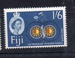 FIDJI - FIJI - 1961 - SERIE COURANTE - DEFINITIVES - 180éme MERIDIEN - DATE LINE - 180th MERIDIAN - 1/6 - - Fidji (...-1970)