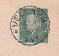 Deutsches Reich Karte Mit Tagesstempel Vellahn 1932 Zarrentin Lk Ludwigslust Parchim - Deutschland