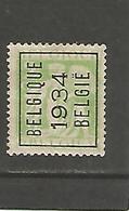 België Typografische Voorafstempeling  N° 274 A Belgique 1934 België - Precancels