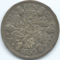 Great Britain / United Kingdom - 1935 - George V - 6 Pence - KM832 - H. 6 Pence