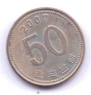 S KOREA 2007: 50 Won, KM 34 - Korea, South