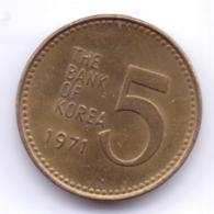 S KOREA 1971: 5 Won, KM 5a - Korea, South