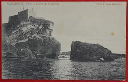 Postcard Of The  Nazareth  /   Farol E Pedra De Guelhim   ( Lote N º 1307 ) - Leiria