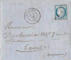 1873 LAC Partielle / Cachet De Chailland + Grille GC 6069 / Levoul Desmont Pour Duchemin Négociant à Laval / 53 Mayenne - Allemagne