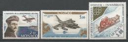 MONACO ANNEE 1963/1964 PA N°81 82 83 NEUFS**NMH - Poste Aérienne