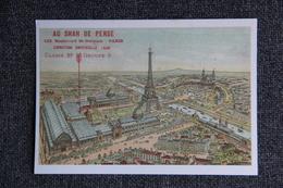 """PARIS : Levallois Perret (1889 -1989) : Centenaire De La Tour EIFFEL, Exposition Universelle, """" AU SHAH DE PERSE """" - Expositions"""