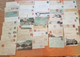 France - Lot De 100 Lettres Et Cartes Postales  - Poste Ferroviaire - Cachets De Gare  - DEPART 1 EURO - Marcophilie (Lettres)