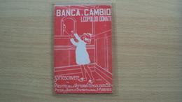 TOSCANA CARTOLINA ILLUSTRATA BANCA E CAMBIO DONATI FIRENZE - Firenze (Florence)