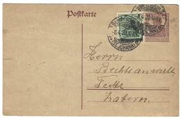 "SAARBRÜCKEN 3 (ST. JOHANN) E - Ganzsache Entier Postal Germania 15pf + Germania 5Pf ""Sarre"" - 8.4.1920 - Altri"