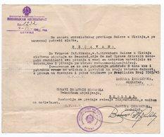 WWII 04.08.1945 YUGOSLAVIA,MONTENEGRO,CETINJE,MONOPOL INSPECTION CETINJE LETTER,SOLANA ULCINJ - Historical Documents