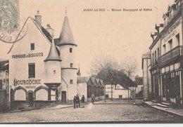 ARNAY-le-DUC. Maison Bourgogne (Fabrique De Biscuits) Et Halles. Commerces: Charcuterie Restaurant - Arnay Le Duc