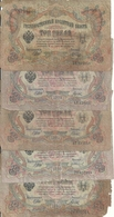 RUSSIE 3 RUBLES 1905 VG-VG+ P 9 C ( 5 Billets ) - Russia