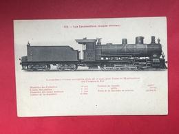 N°1994. LOCOMOTIVE A VAPEUR. SERIE « LES LOCOMOTIVES (EMPIRE OTTOMAN) ». LOCOMOTIVE A 8 ROUES ACCOUPLEES (VOIE DE 1m05) - Trains