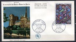 FDC FRANCE 1964 - N° 1419 - VIIIème Centenaire De Notre-Dame De Paris - 1960-1969