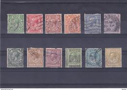 GB 1924 GEORGES V Yvert 159-170 Oblitéré, Used Cote : 55 Euro - Gebraucht
