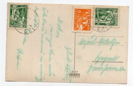 1952 YUGOSLAVIA,SLOVENIA,BLED TO BELGRADE,ILLUSTRATED POSTCARD,USED - Yugoslavia