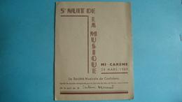 16 - CONFOLENS - Carton D'invitation Pour La 5° Nuit De La Musique à La Mi-Carême Du 24 Mars 1949 - Confolens