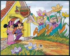 NB - [91610]SUP//-GRENADINES - Walt Disney - Mickey, Minnie Et Deux Elfes, B.D, Le Bloc De 5$ - Disney