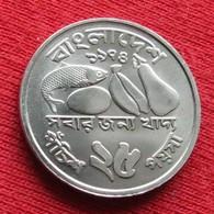 Bangladesh 25 Poisha 1974 KM# 8 Fao F.a.o. Lt 194 Bangladeche - Bangladesh
