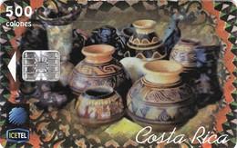 *COSTARICA* - Scheda A Chip Usata - Costa Rica