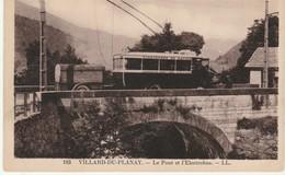 73 Villard Du Planay Le Pont Et L'electrobus TBE Carte Interessante - Otros Municipios
