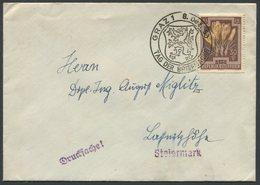 ÖSTERREICH / Brief Mit ANK 879 Von Graz Nach Laßnitzhöhe Mit Sonderstempel Tag Der Briefmarke Vom 8. Dez. 53 - 1945-60 Brieven