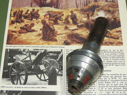 SUPERBE FUSEE DE MINE LEGERE ALLEMANDE 1918 + CACHE-FLAMME + MANUEL MW . - 1914-18