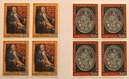 """POR#3290-Set Of 2 Blocks Of 4 MNH Stamps - """"2. Centenário Da Reforma Pombalina Da Universidade- 1772"""" - Portugal - 1972 - Blocs-feuillets"""