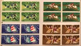 "POR#3300-Set Of 4 Blocks Of 4 MNH Stamps - ""XX. Jogos Olímpicos - Munique 1972"" - Portugal - 1972 - Blocs-feuillets"