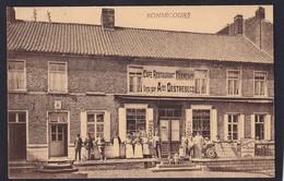 BONSECOURS ( BELGIQUE ) Café Restaurant Français - Propriètaire A. DESTREBECQ ( Rue Animée , Personnes ) - TTB Etat - Péruwelz