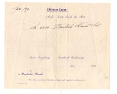 Effecten-Casse Erhielt Heute Durch Die Post Die Deutsche Bank 1905 - Banco & Caja De Ahorros