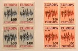 "POR#3320-Set Of 2 Blocks Of 4 MNH Stamps - ""Europa CEPT"" - Portugal - 1972 - Blocs-feuillets"
