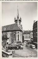 Lausanne, Eglise St. François; Trolleybus, Filobus, Autobus, Bus - VD Vaud