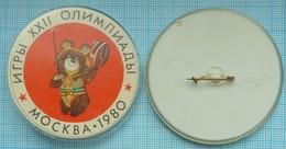 USSR / Badge / Soviet Union / RUSSIA / Olympiad 80. XXII Summer Olympic Games. Olympic Bear. Fencing. - Scherma