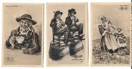 Lot 3 Cartes - Illustrateur HOMUALK - PONT L ABBE - QUIMPERLE - LE FAOUET - Homualk