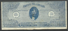 Estland Estonia 1920ies Fatty Millionäär 1000 RÕÕMU Fantasy Banknote - Estonie