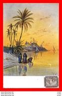 CPA Illustrateur (Egypte)   Vue Sur Le Nil, Animé...CO1610 - Autres Illustrateurs
