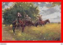 CPA MILITARIA. Guerre 1914-18.  Les Dragons à Cheval...S857 - War 1914-18