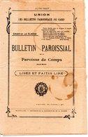 30 COMPS BULLETIN PAROISSIAL RELIGION GARD - Historical Documents