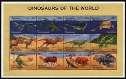 Barbuda 1996 - Mi-Nr. 1802-1813 ** - MNH - Signiert - Prähistorische Tiere - Antigua En Barbuda (1981-...)
