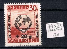 D(VEI) 19 ++ AUSTRIA ÖSTERREICH 1946 PLATTENFEHLER 775 III GESTEMPELD - 1945-60 Usados