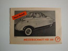 Automobile-Plaquette Originale Pour La Voiturette MESSERSCHMITT KR 200 à Zurich,Kabinenroller - Suisse