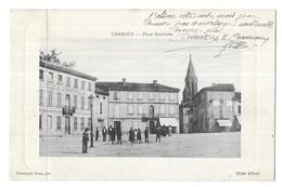 Carmaux Rare Place Gambetta Cliché Aillaud Phototypie Poux, Albi - Carmaux