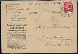 Fr - Camp De Concentration De Sachsenhausen à Oranienburg - Enveloppe D'un Prisonnier Pour Hamburg Cachet 14-7-38 - - Storia Postale