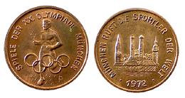 01672 GETTONE TOKEN JETON FICHA COMMEMORATIVE SPORT OLYMPIADE XX OLIMPISCHE SPIELE MUNCHEN 1972 - Zonder Classificatie