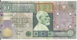 LIBYE 10 DINARS ND2002 VF P 66 - Libye