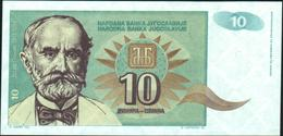 YUGOSLAVIA - 10 Dinara 1994 {Narodna Banka Jugoslavije} UNC P.138 - Yugoslavia