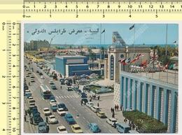 1977 Libya TRIPOLI , Exhibition, Fiera Old Cars, VW,  Mercedes, Mini Moris ...old Stamp,  -   Old Postcard - Libia